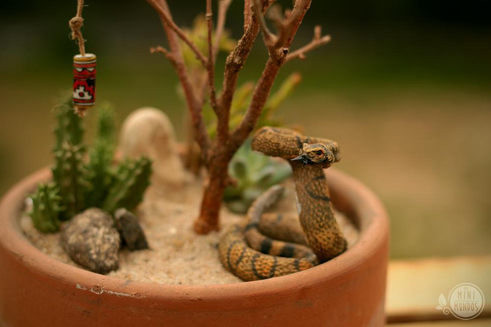 mini jardim de cactus:La Cobra