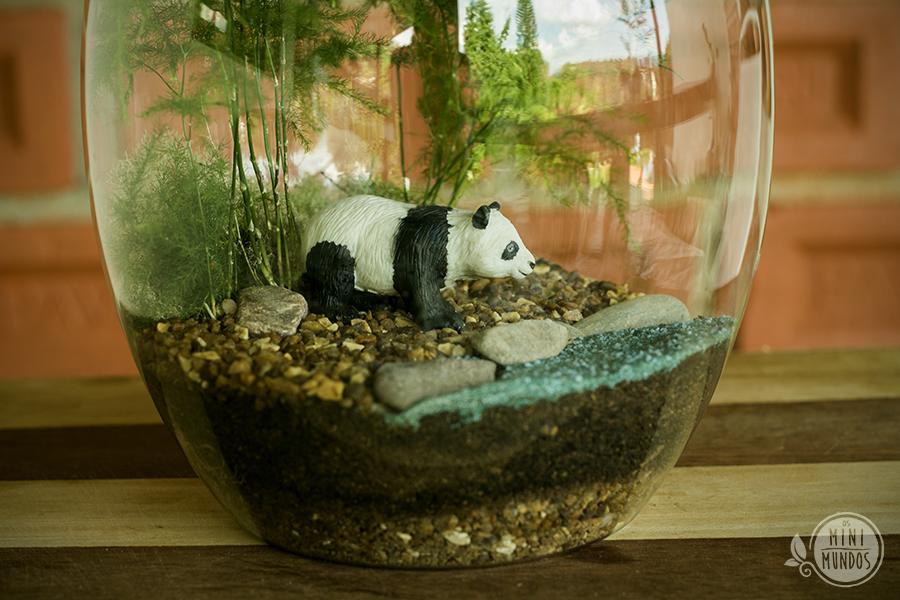 mini jardim de vidro:Floresta do Panda